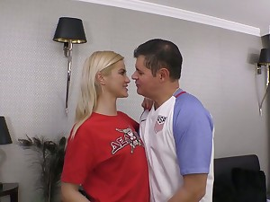 After topping prick rather flexible bazaar GF Cherry Kiss is pounded missionary