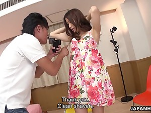 Seductive Asian chick Saya Aika gets her pussy slammed with an increment of creampied