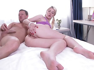 Nothing pleases dirty girl Alisa Mervel as rough anal sex with her boyfriend