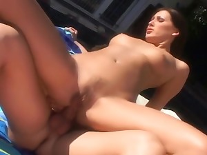 Mandy Gleaming Likes Her Hairy Twat Played With At the end of one's tether Horny Dude