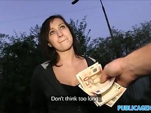 PublicAgent Black haired neonate fucks in dark