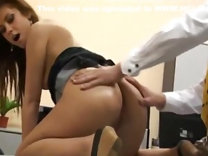 X German Secretary Gets Anal Fucked by The brush New Boss