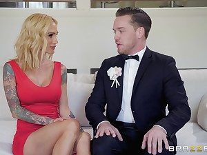 Classy inked MILF babes Bailey Brooke and Sarah Jessie share weasel words