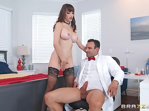 Slot doggy fuck with Lexi Luna getting cum on her hefty titties