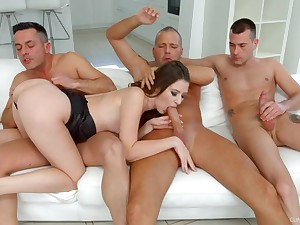 Alessandra Amore needs forth than one dick to get pleased
