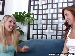 StepSiblings Blond Hair Lady 69 drag queen licks dark hair