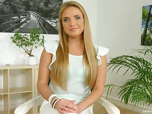 Stunning auburn alone porn actress Sofi Goldfinger plus her aberrant interview
