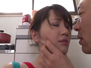 After pussy licking Anna Kishi wants to jump on a friend's pecker
