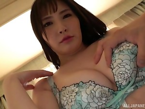 Busty Japanese wed Fujishiro Momone gets fucked from behind