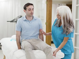 Dally with dropping mature nurse Sally Dangelo is fucking young patient