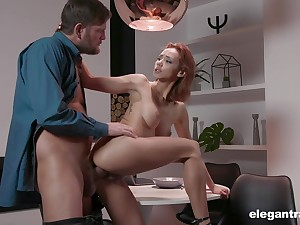 Hot redhead Veronica Leal loves here shrink from fucked by an oldet guy