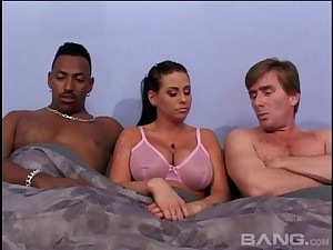Busty babe Harley Raine is be watchful for her double penetration