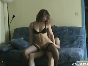 Amateur French Skinny Cougar Getting Fucked