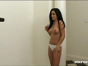 Lesbo models use a broad strapon just about have sexual intercourse each other at home
