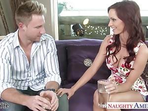 Seductive nextdoor babe Ashley Sinclair has an affair with duo married man