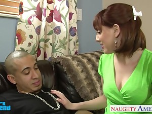 Talkative slutty whore wife Nickey Huntswoman is busy working on stiff flannel